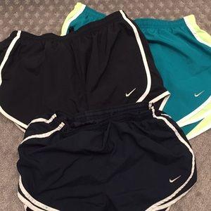Lot of 3 Nike shorts